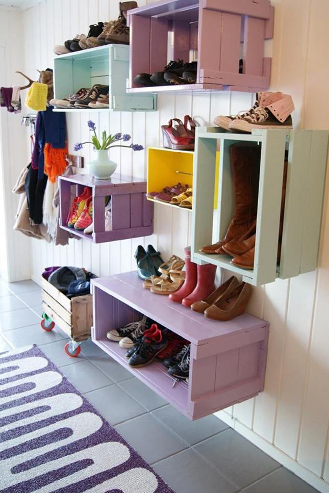 huacales para zapatos