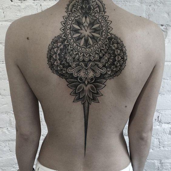 Tatuajes hindús mandala