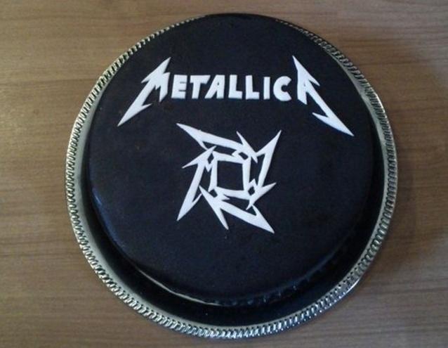 metallica pasteles de música