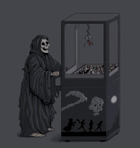 muerte vida humor negro