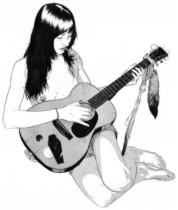 mujer guitarra mathew woodson