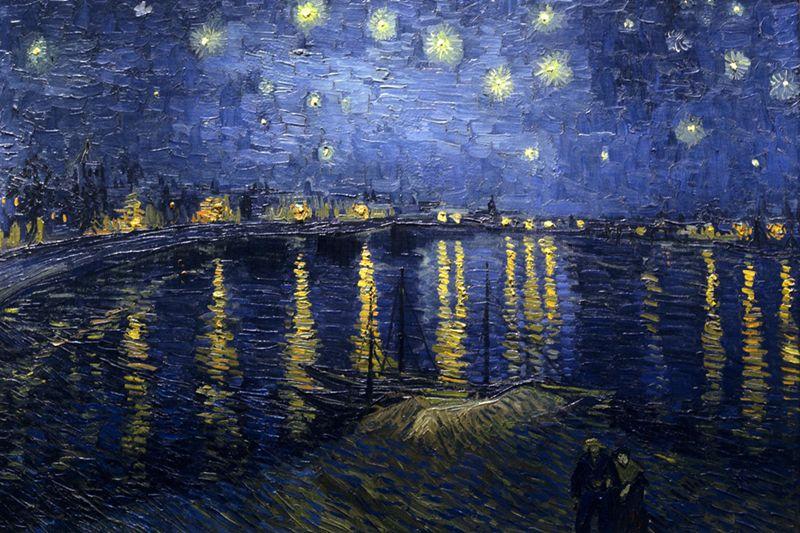 noche estrellada sobre el rodano van gogh