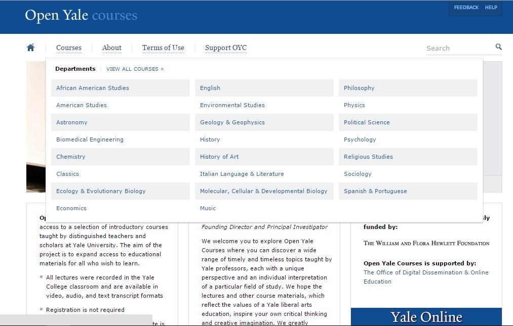 open yale cursos gratuitos