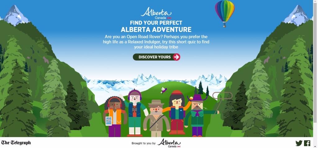 Alberta Canadá Adventure Quiz