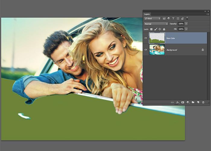 pantalla photoshop-carro