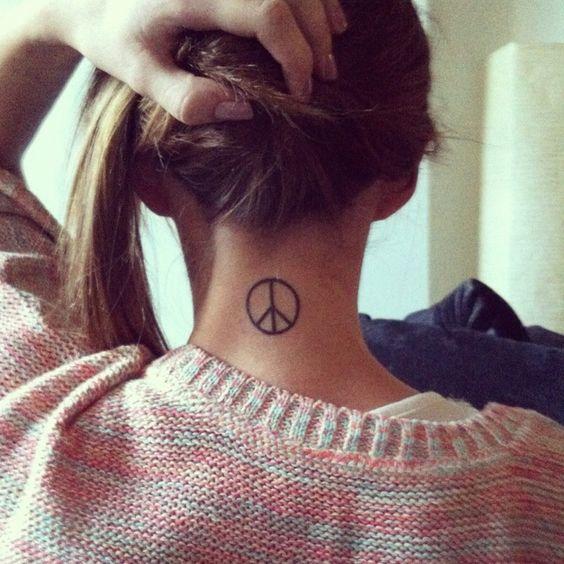 peace tattoo tatuajes con diseños