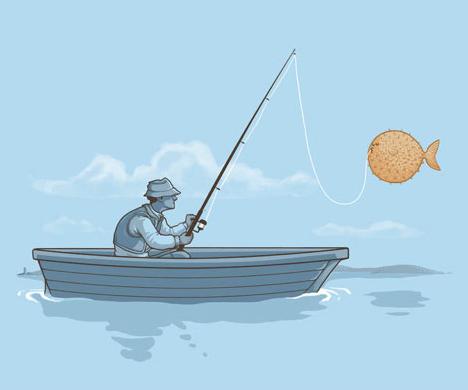 pez globo humor negro