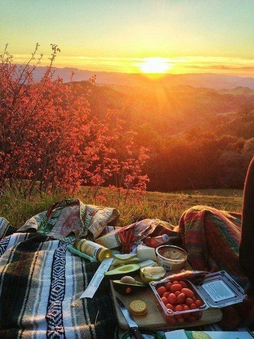 picnic atardecer
