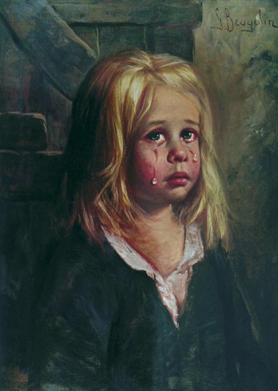 pinturas ninos llorones