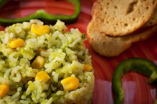 arroz poblano - platillos mexicanos
