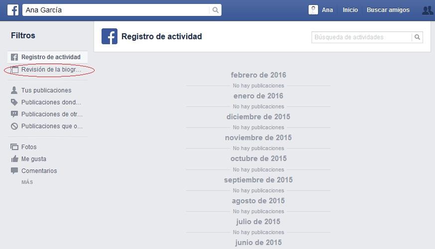 perfil de Facebook