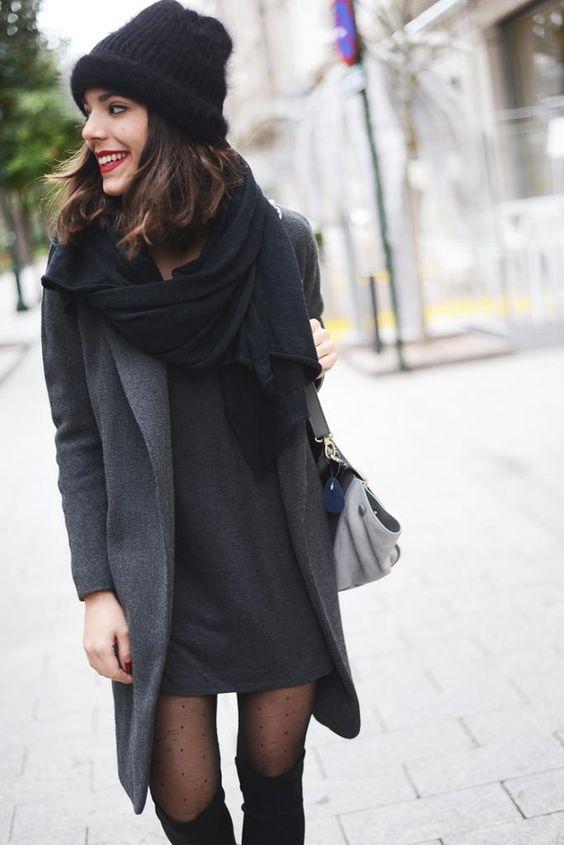 Vestido negro informal combinar