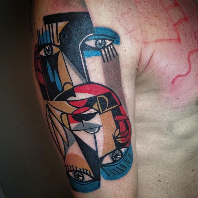 Tatuajes cubistas inspirados en Picasso