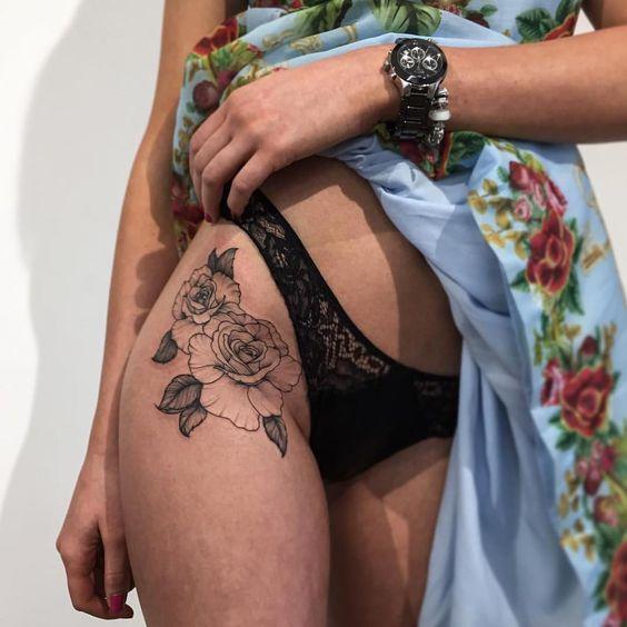 tatuajes sensuales cadera