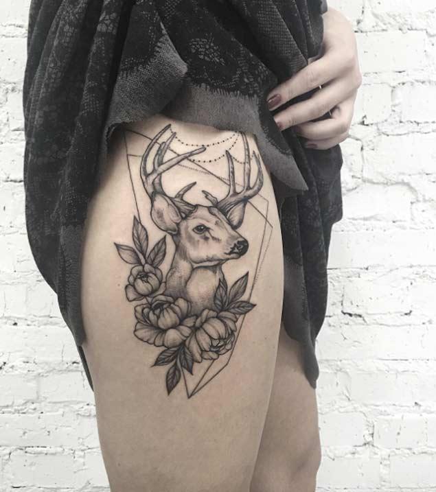 tatuajes sensuales muslo