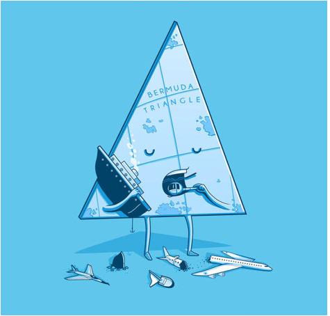 triangulo de las bermudas humor negro