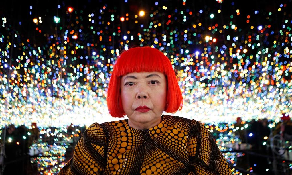 Yayoi Kusama inside her Infinity Mirrored Room installation.