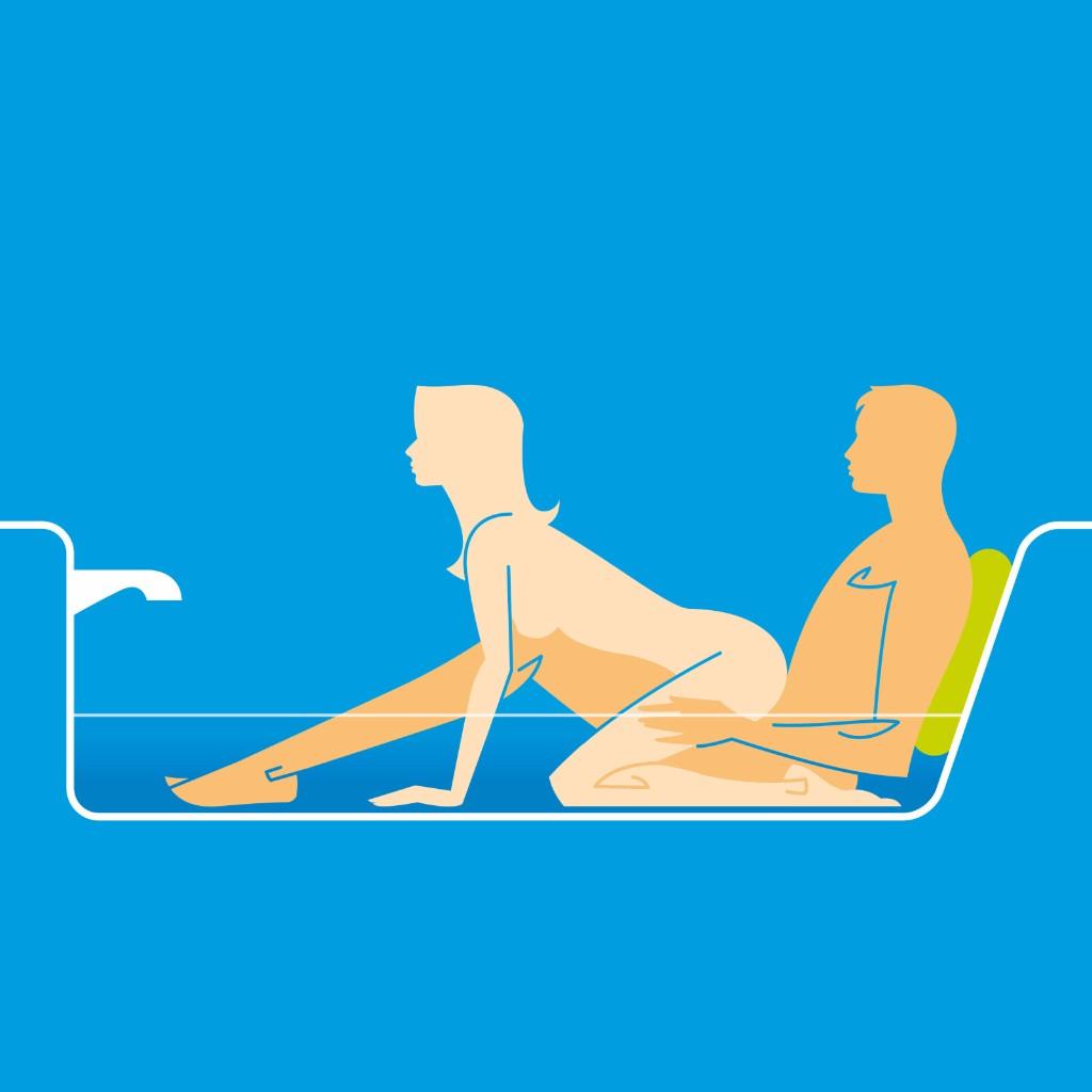 Bathtub Boogie sexo bajo el agua