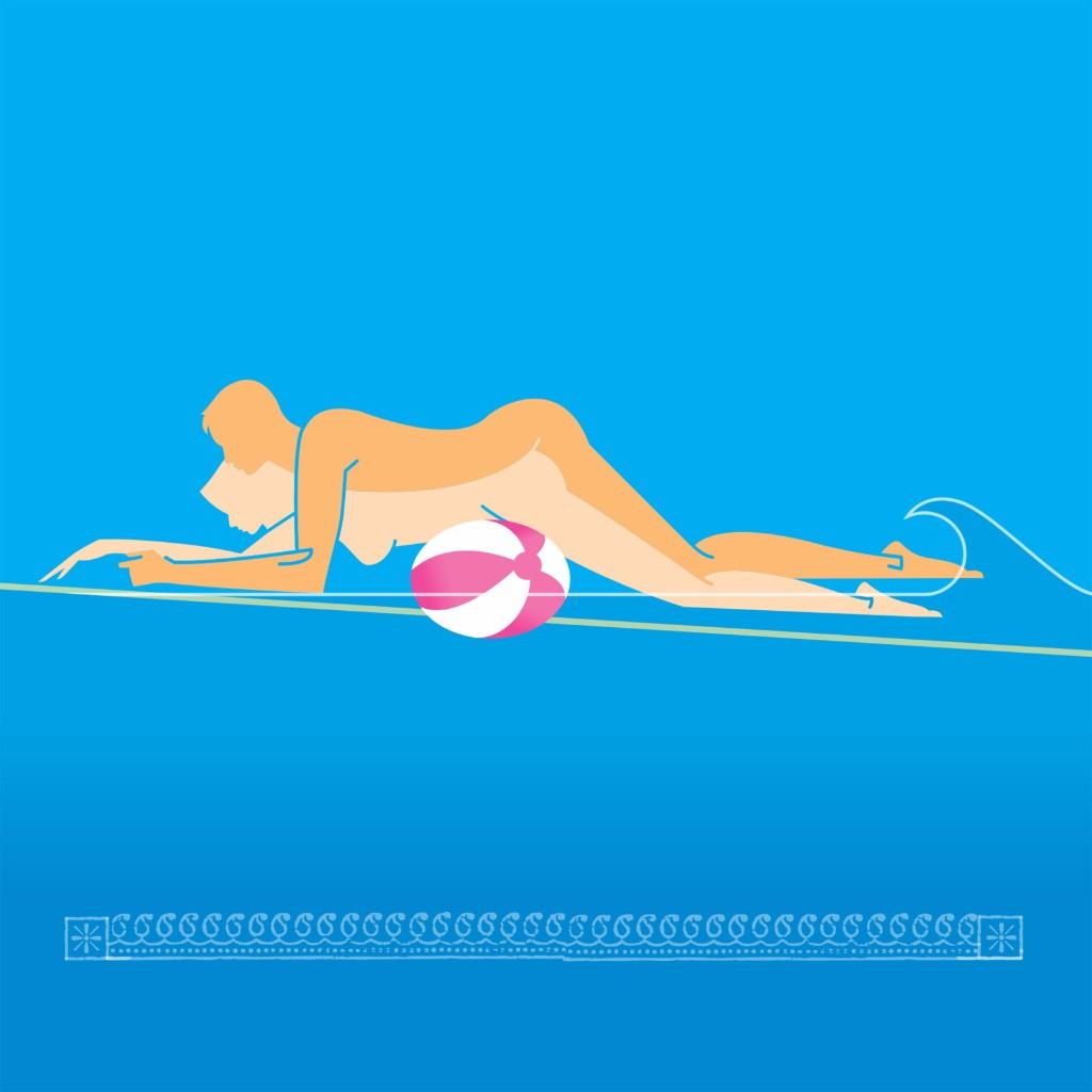 Beach-Ball Booty sexo en el agua