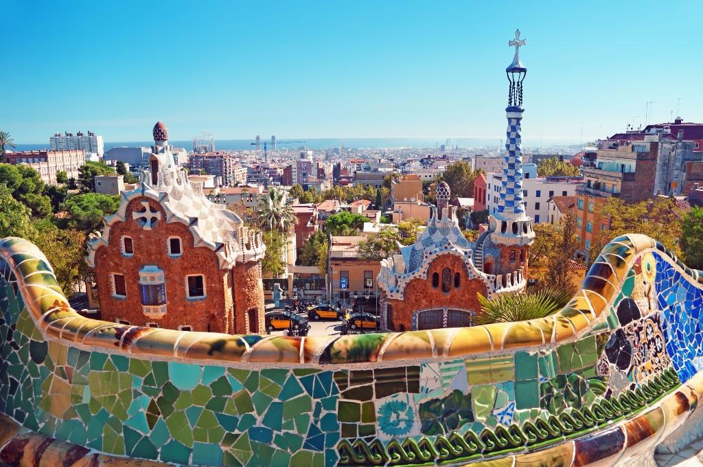 Caminando Mundo Parque Guell de Gaudi
