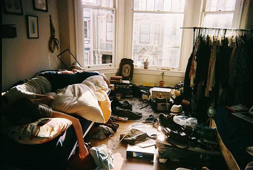 cuarto tirado organizar closet