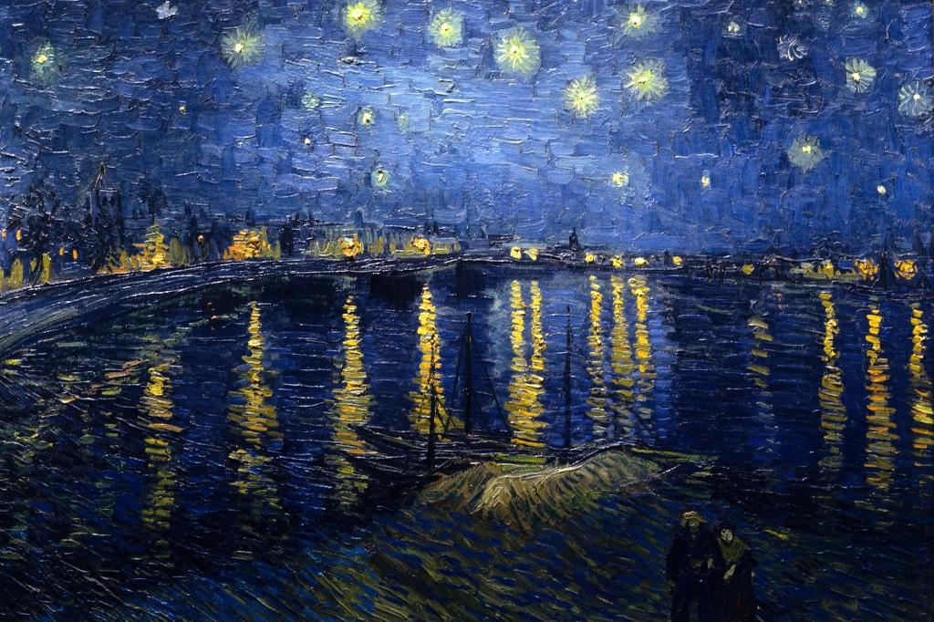 la noche estrellada sobre el rodano vangogh
