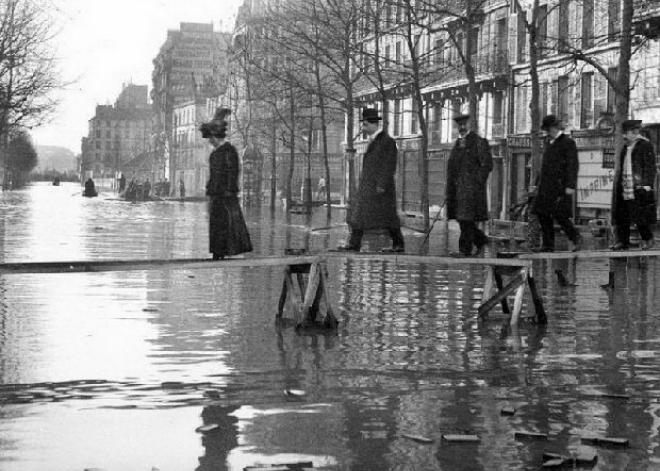 la terrible inundación de París en 1910