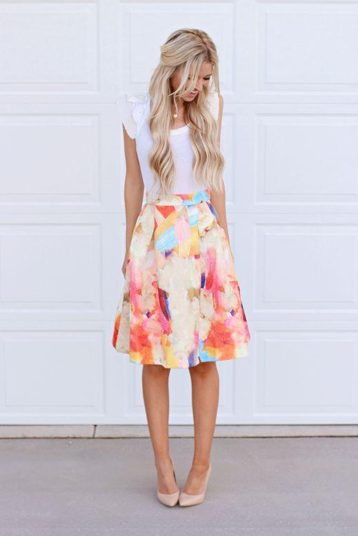 look perfecto blusa falda