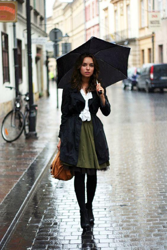 looks elegantes dia lluvioso