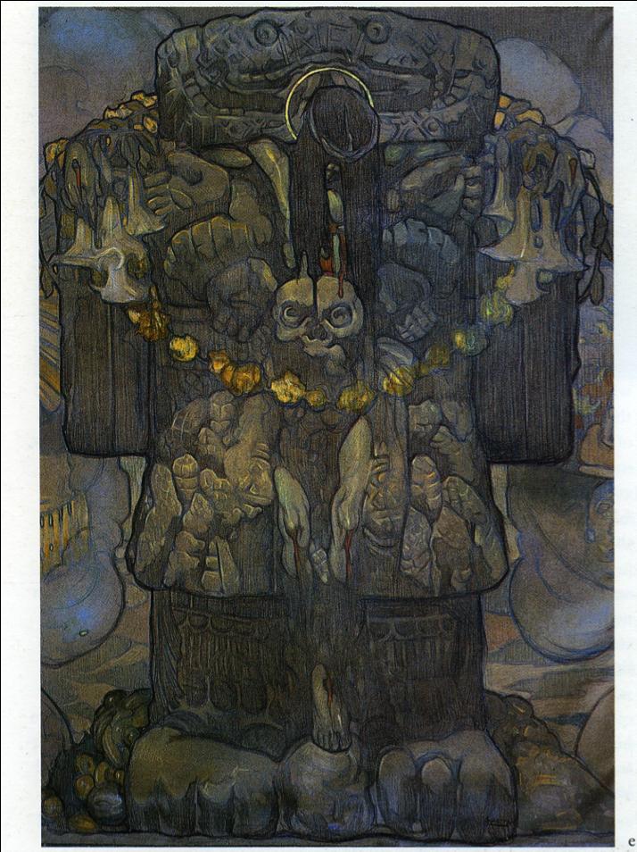 pinturas de arte coatlicue