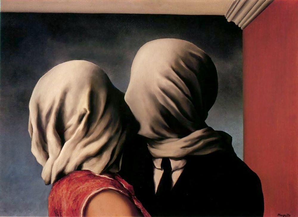 pinturas de arte los amantes