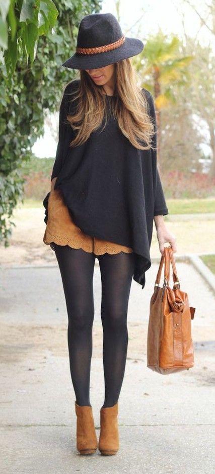 poncho falda looks elegantes
