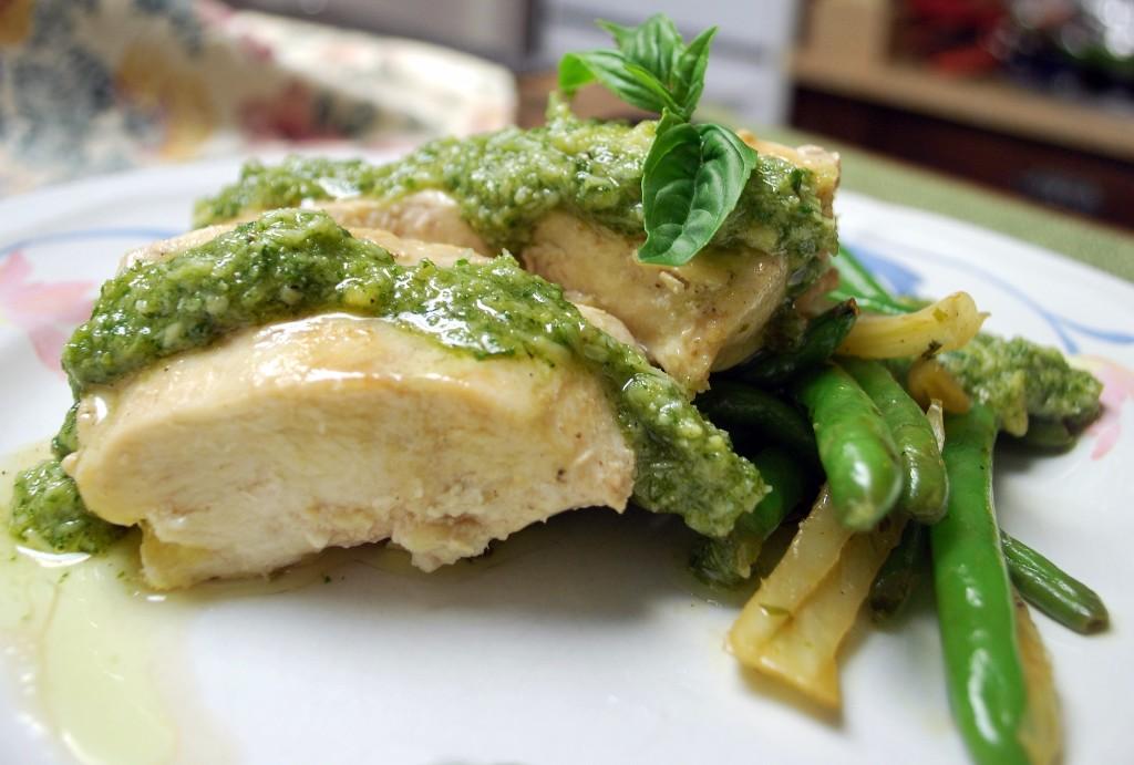 recetas de comida pollo pesto