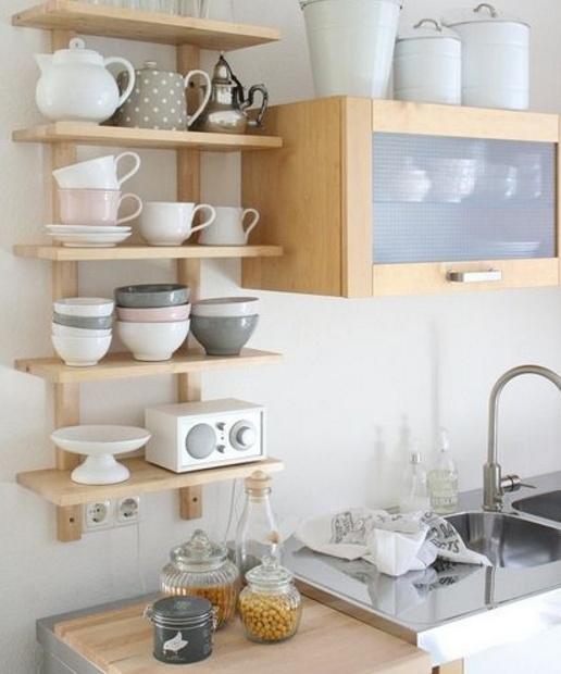 Ideas para aprovechar mejor una cocina peque a dise o for Repisas espacios pequenos