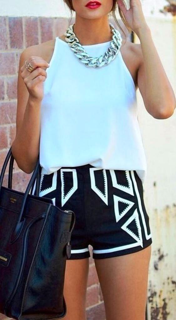 short y blusa look perfecto
