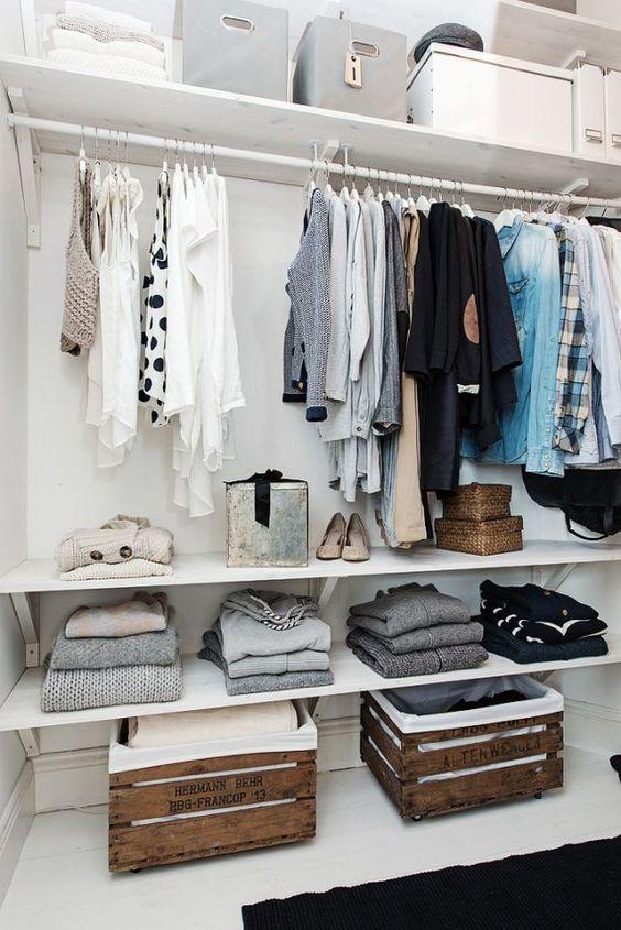 sueteres organizar closet