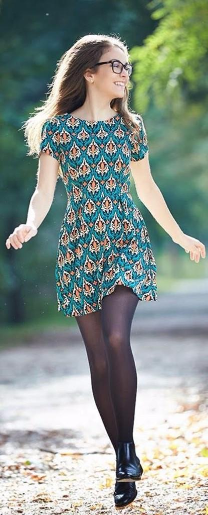 vestido medias outfit perfecto