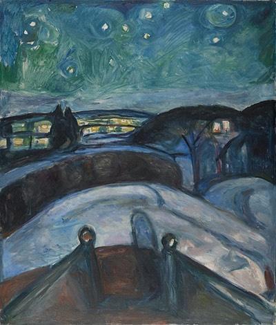 Edvar Munch starry night