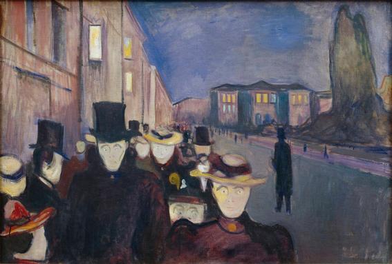 Edvard Munch Evening on Karl Johan