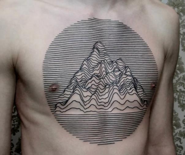 tatuaje en pecho JD |fan de joy division