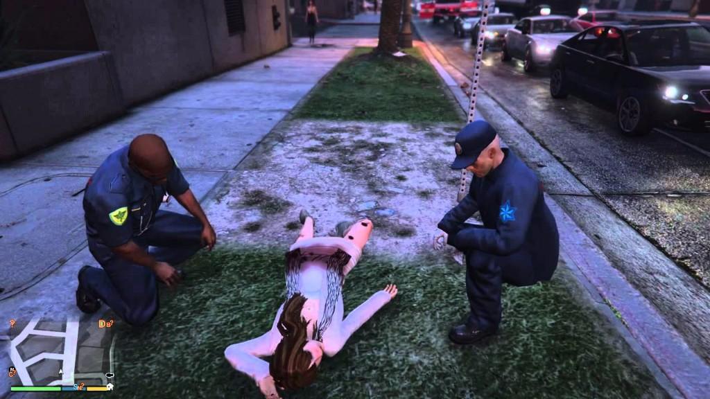 GTA muerte mujer