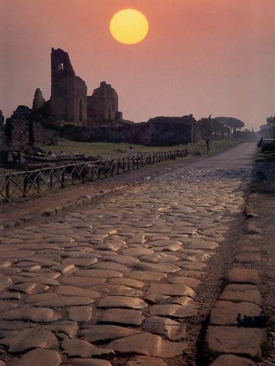 Howard Fast via Appia atardecer