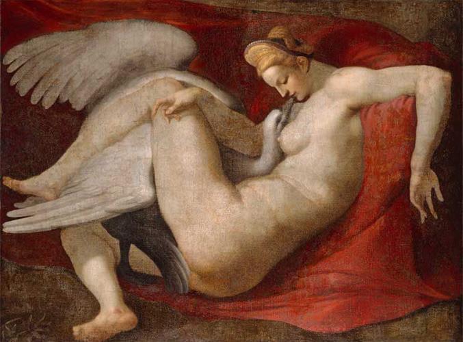 Leda y el cisne | pinturas eróticas