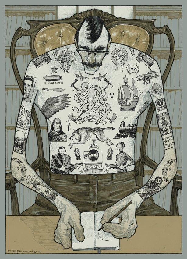 Libros ray bradbury ilustrated man