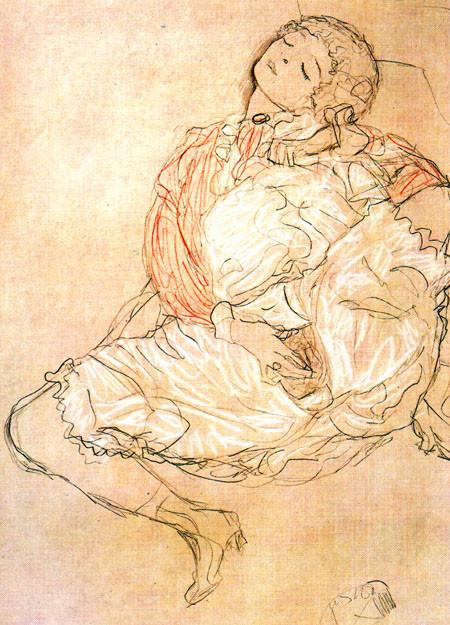 Masturbacion klimt | pinturas eróticas