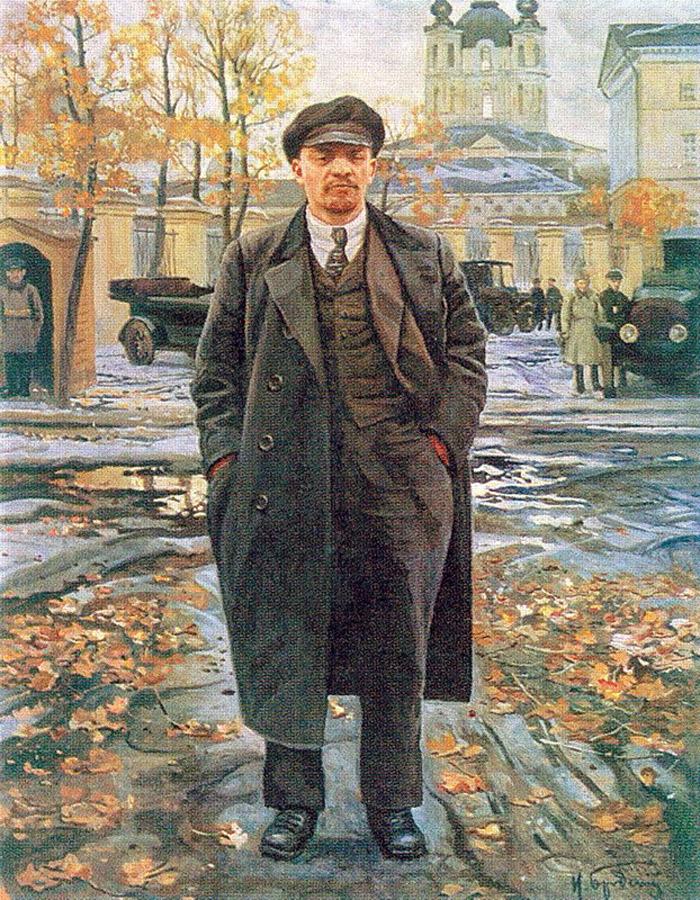 Realismo social Brodskiy Lenin