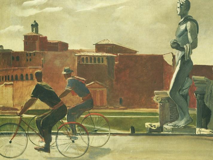 Realismo socialista Deineka bicicletas