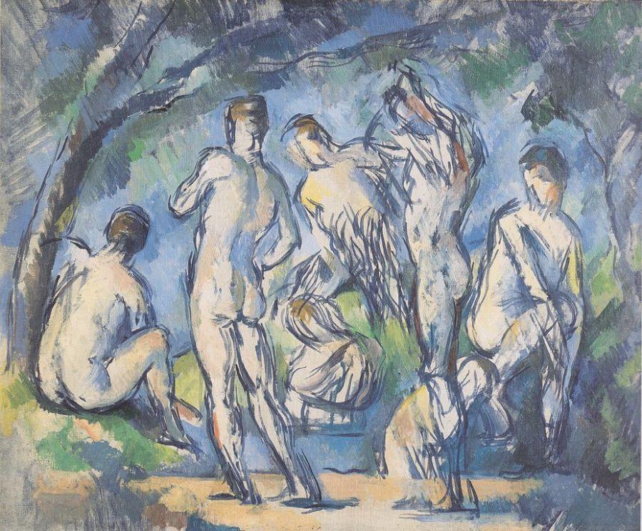 Siete bañistas | pinturas eróticas