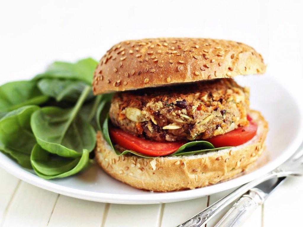 hamburguesa de tempeh  / hamburguesas veganas
