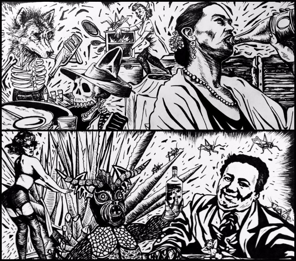 Triana Parera Boceto para mural en bar de coyoacán